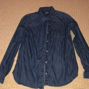 Gap kids blue jean shirt